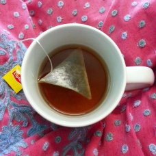 The deep jewel-like colour of the Tropical Fruit tea